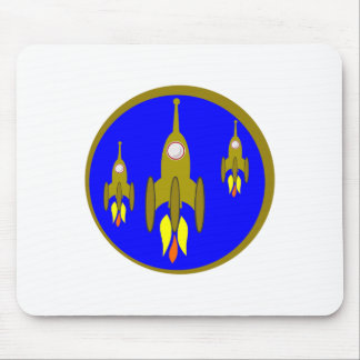 Three Rockets in Gold Mousepads
