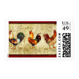 Three Roosters Postage