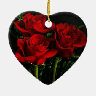 Three Roses Ceramic Ornament