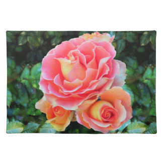 Three Roses Cloth Placemat