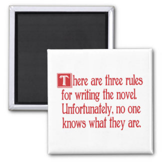 Three Rules 2 Inch Square Magnet