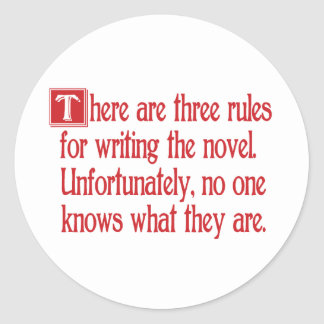 Three Rules Classic Round Sticker