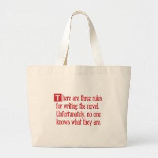 Three Rules Large Tote Bag