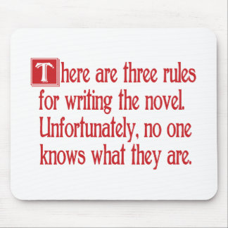 Three Rules Mouse Pad