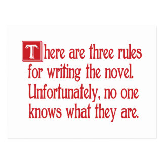Three Rules Postcard