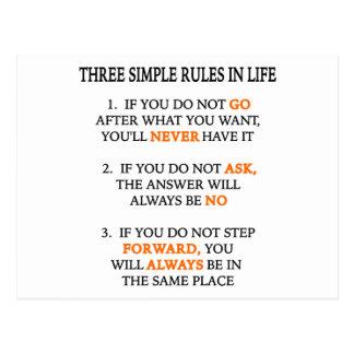 Three Rules Postcard