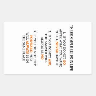 Three Rules Rectangular Sticker