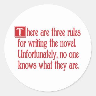 Three Rules Round Sticker