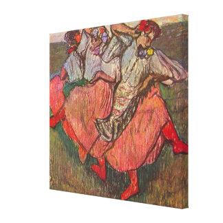 Three Russian Dancers by Edgar Degas Canvas Print