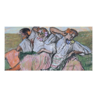 Three Russian Dancers by Edgar Degas Card