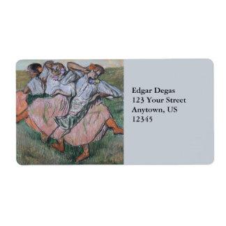 Three Russian Dancers by Edgar Degas Label