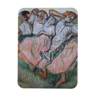Three Russian Dancers by Edgar Degas Magnet