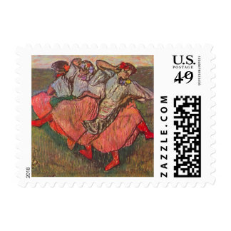 Three Russian Dancers by Edgar Degas Postage