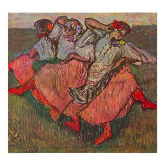 Three Russian Dancers by Edgar Degas Poster