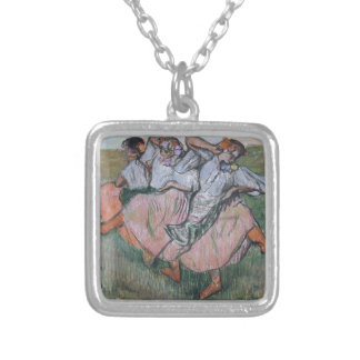 Three Russian Dancers by Edgar Degas Silver Plated Necklace