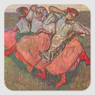 Three Russian Dancers by Edgar Degas Square Sticker