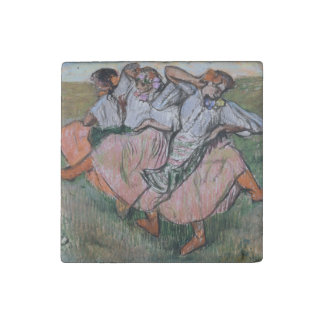 Three Russian Dancers by Edgar Degas Stone Magnet