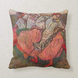 Three Russian Dancers by Edgar Degas Throw Pillow