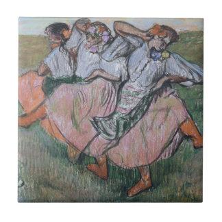Three Russian Dancers by Edgar Degas Ceramic Tile