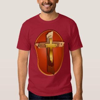 Three Rustic Crosses Oval T-shirt