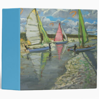Three Sailboats Bray Dunes France Binder