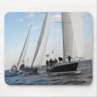 Three Sailboats on the Sea. Mouse Pad