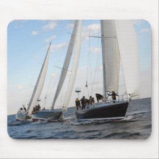 Three Sailboats on the Sea. Mouse Pad