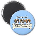 Three Saint Bernards Fridge Magnet