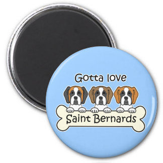 Three Saint Bernards Magnet