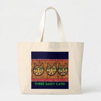 THREE SASSY CATS! CANVAS BAG