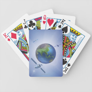 Three Satellites Bicycle Playing Cards