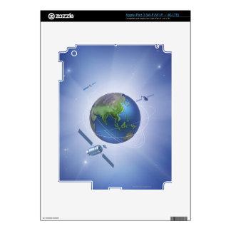 Three Satellites Decal For iPad 3