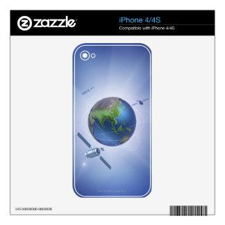 Three Satellites Skin For iPhone 4