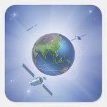 Three Satellites Sticker