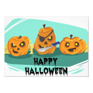 Three Scary Pumpkins – For Kids Card