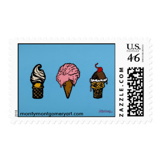 """""""THREE SCOOPS"""" POSTAGE STAMPS"""