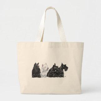 Three Scotties & a Westie Bag