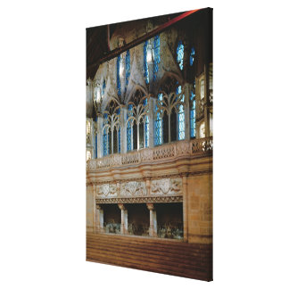 Three sculptured fireplaces in the Salle Canvas Print