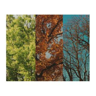 Three seasons wood wall art
