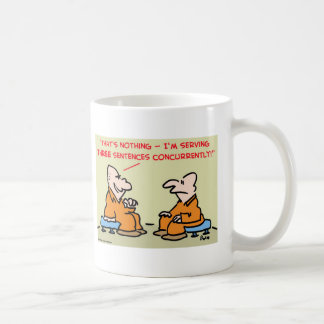 three sentences concurrently coffee mug