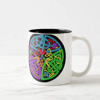 three serpents Two-Tone coffee mug