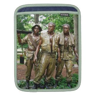 Three Servicemen Statue Ipad Sleeve