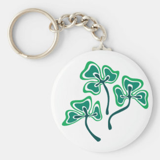 Three Shamrocks Keychain