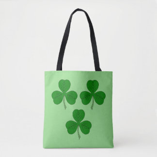 Three Shamrocks Tote Bag