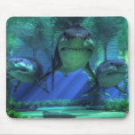Three Sharks Mouse Pad