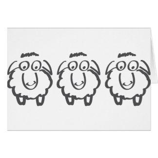 three sheeps greeting card
