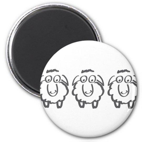 three sheeps magnet