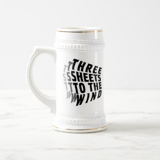 Three Sheets to the Wind 18 Oz Beer Stein