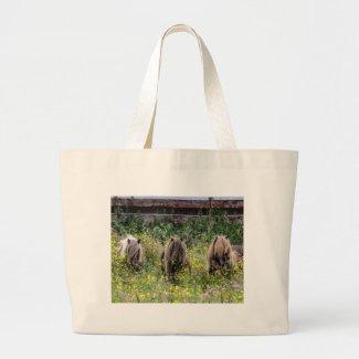 Three Shetland pony stallions - Jumbo Tote Jumbo Tote Bag