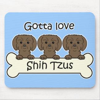 Three Shih Tzus Mouse Pad